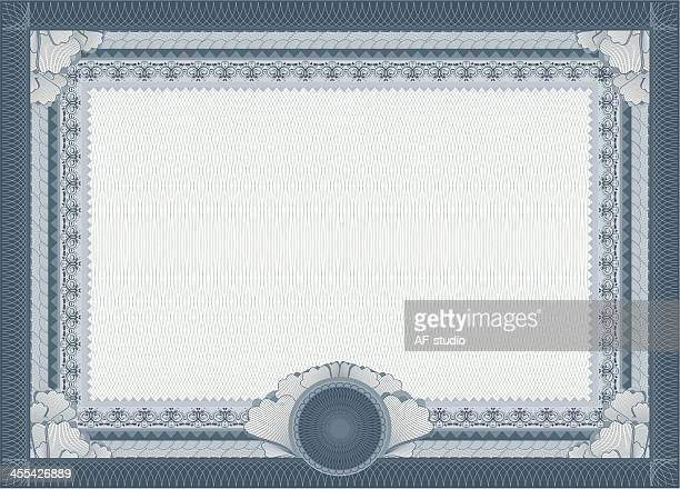 Zertifikat-Blanko-Vorlage