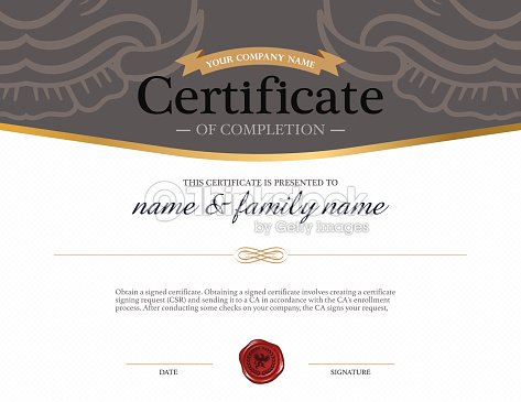Certificate design template vector art thinkstock certificate design template vector art yelopaper Images