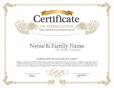 Certificate Design Template Vector Art Thinkstock