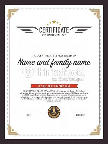 Certificate design template vector art thinkstock certificate design template vector art yadclub Images