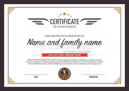 Certificate design template vector art thinkstock certificate design template vector art yadclub Choice Image