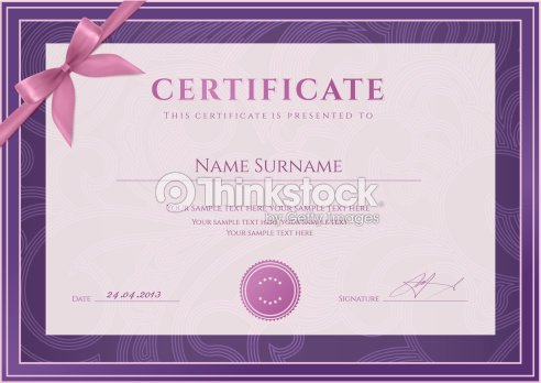 Certificate diploma template vector art thinkstock certificate diploma template coupon award background design floral pattern bow yadclub Choice Image