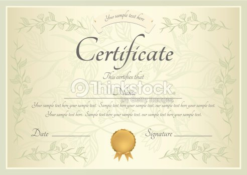 Certificate Diploma Template Background Design With Swirl Scroll ...