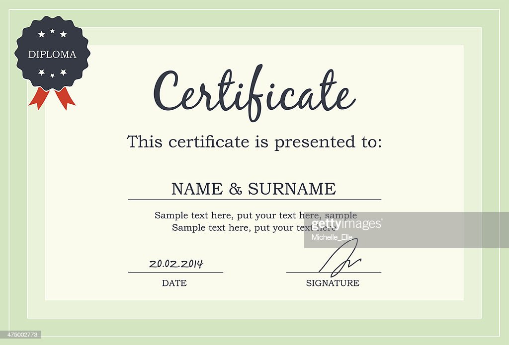 Certificate Diploma Template Vector Art Thinkstock
