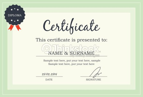 Certificate Diploma Template Vector Art – First Place Award Template