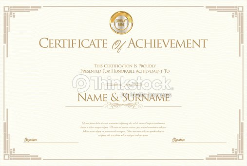 Certificate Of Achievement Or Diploma Template Vector Art | Thinkstock