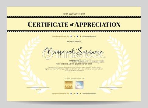 Certificate of appreciation template with movie film stripe header certificate of appreciation template with movie film stripe header vector art stopboris Gallery