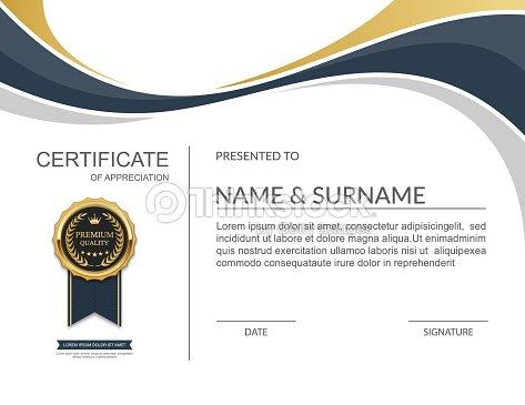 Certificate template certificate of appreciation vector vector art certificate template certificate of appreciation vector yadclub Gallery