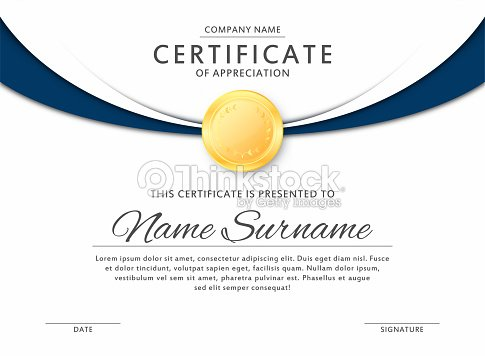 Certificate template in elegant black and blue colors certificate of certificate template in elegant black and blue colors certificate of appreciation award diploma design template yelopaper Image collections