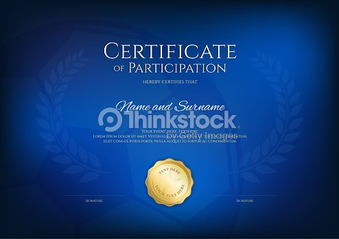 certificate template in sport theme with border frame diploma design