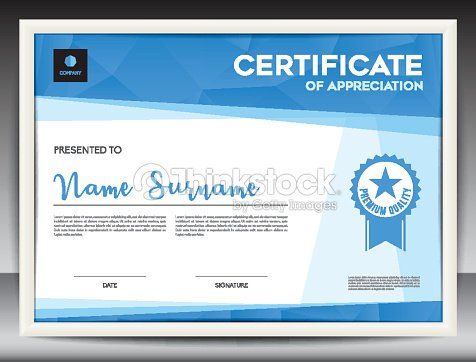 Certificate Template Vector Illustration Diploma Layout In A4 Size