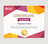 Certificate Template Vector Vector Art Thinkstock