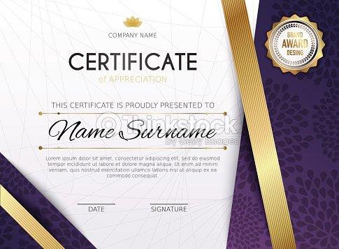 Zertifikatvorlage Mit Goldenen Dekorationelement Design Diplom ...