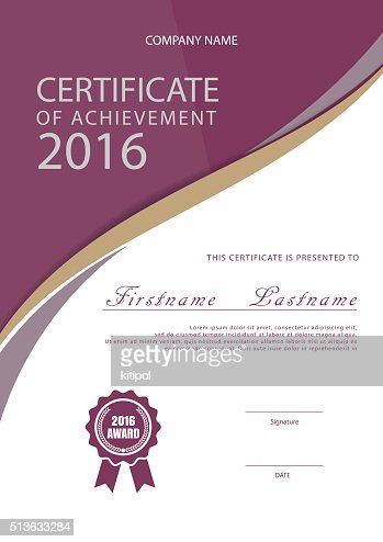 Certificate Templatediploma Layouta4 Size Vector Vector Art Thinkstock