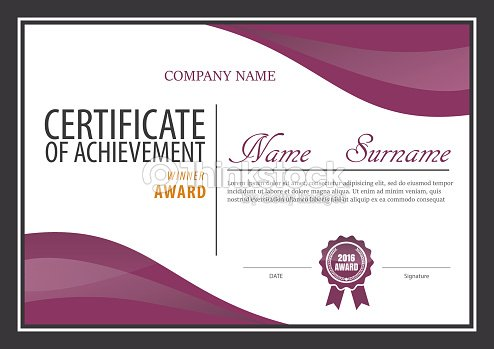 Certificate Templatediploma Layouta4 Size Vector Vector Art Thinkstock