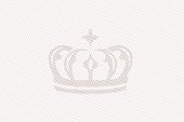 Certificate texture. Royal crown. Background with thin line pattern