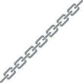 A vector illustration of a metal chain
