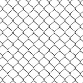 Vector illustration of seamless chainlink fence.