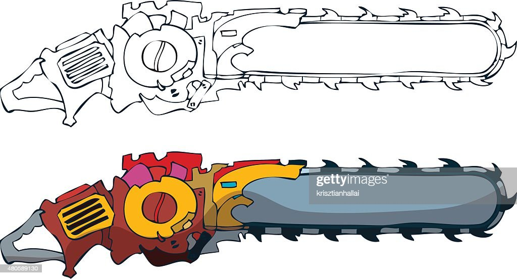 Chainsaw Vector Illustration. : Vector Art
