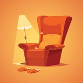 Cozy home stuff. Isolated object  background.