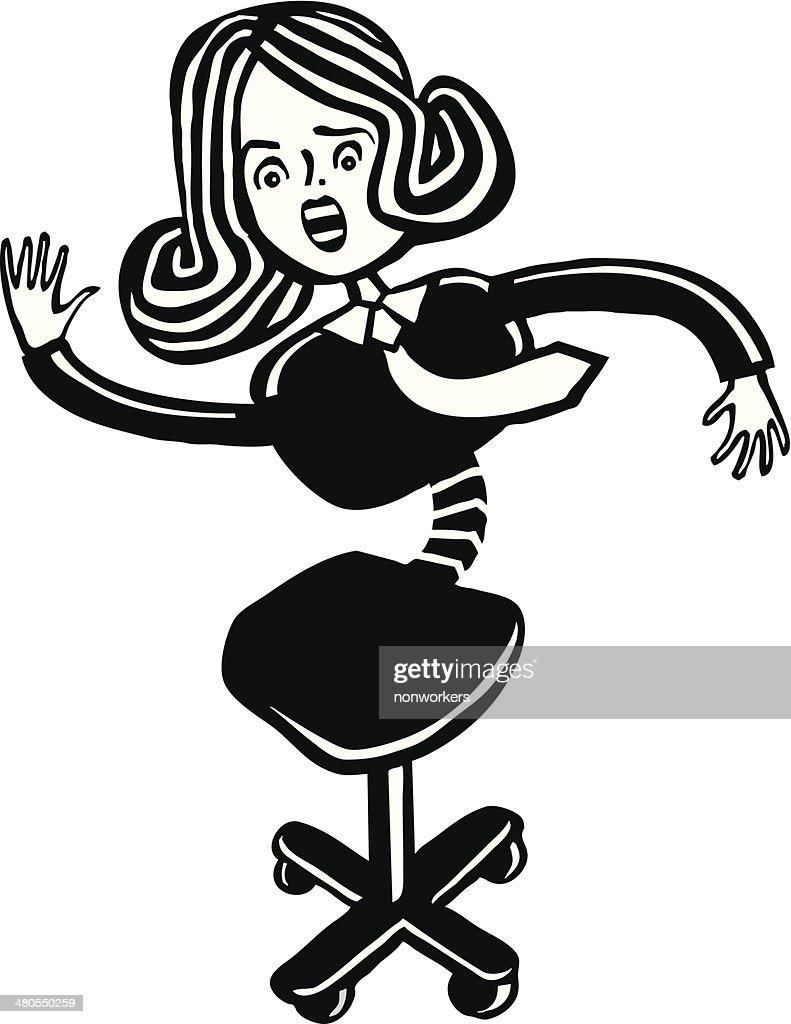 Cadeira Mulher : Arte vetorial