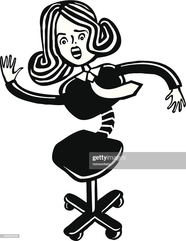 Mujer silla : Arte vectorial