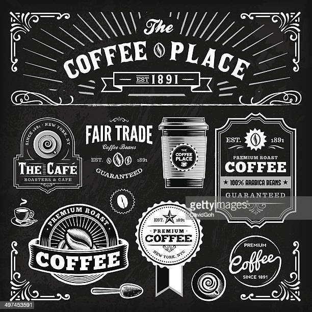 Tafel Kaffee-Label-Set