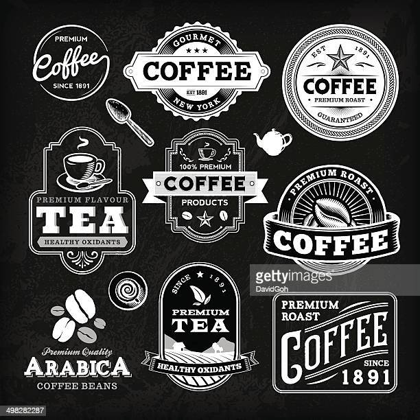 Chalkboard Coffee Label Set