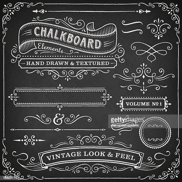 Chalkboard ornate design elements