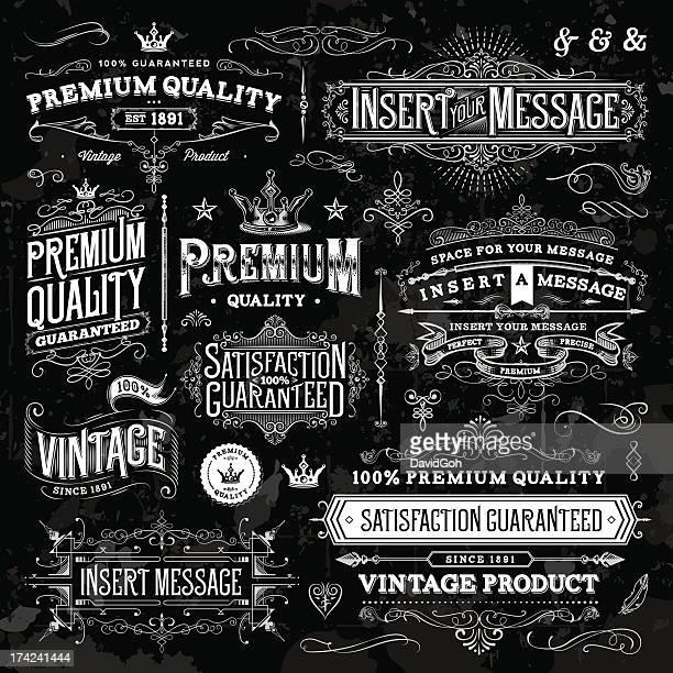 Chalkboard Ornate Vintage Elements