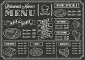 A full vector template Chalkboard menu