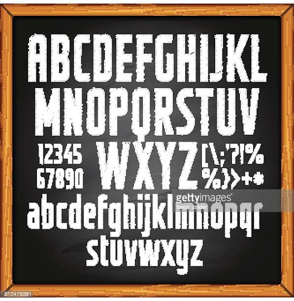 Chalkboard con letras