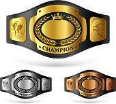 Champion belts vector illustration