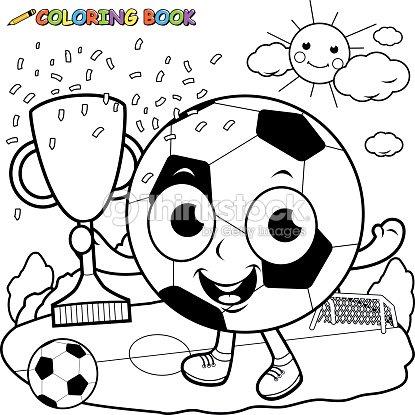 Campeonato De Fútbol De Retención De Bola De Historieta Trofeo Libro ...
