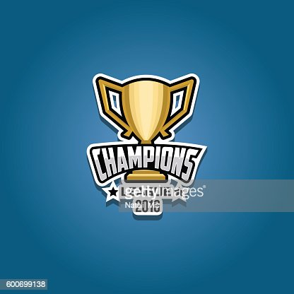Champions league logo gold : stock vector