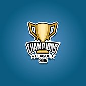 Champions league logo gold emblem