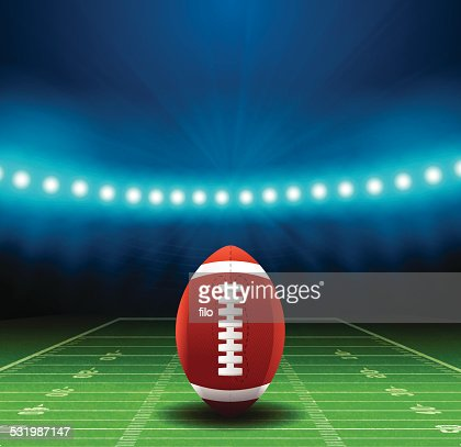 Superbowl Football Field Background Vector Art | Getty Images