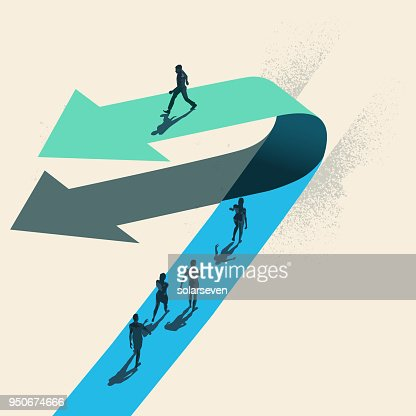 A Change of Direction : stock vector