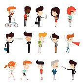 characters design flat cartoon