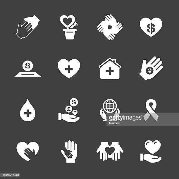 Carità e donazione icone-Serie bianca