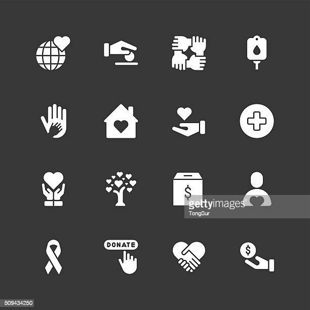 Charity-icons-weiße Serie reguläre