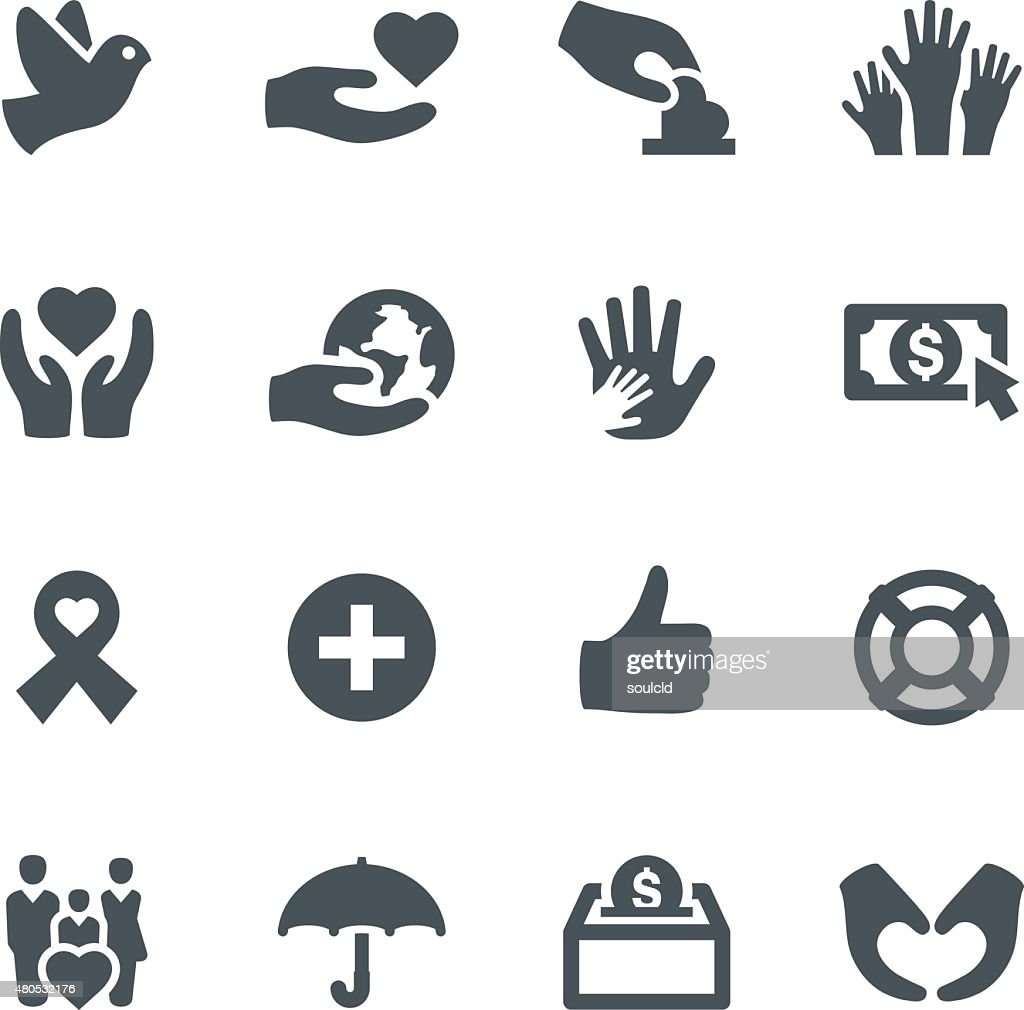 Charity Icons : Vectorkunst