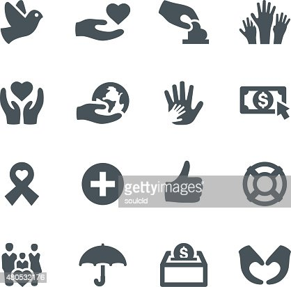 Charity Icons : Vector Art