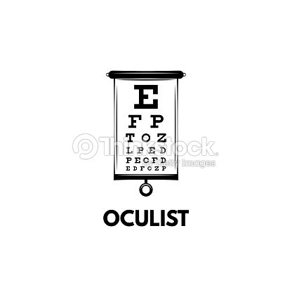 Chart Test Table With Letters For Eye Examination Eye Chart Test For