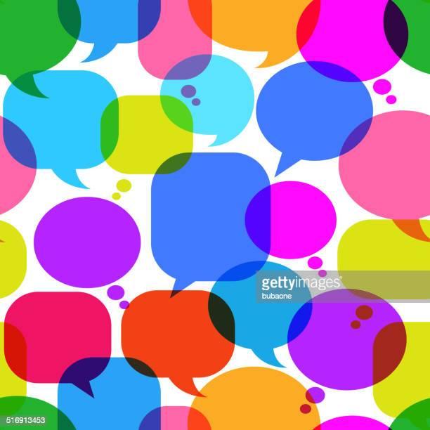 Chat bolle motivo di arte vettoriale royalty-free