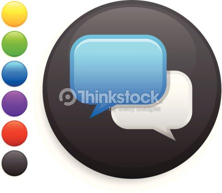 Chat Room Icon On Round Button Vector Art Thinkstock