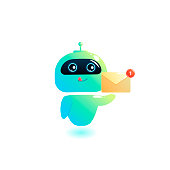 Chatbot  write answer to messages in the chat. Bot consultant is free to help users in your phone online. Vector cartoon illustration