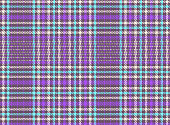 Seamless textile texture of rough cotton fabric with plaid