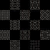 black check background with Japanese traditional design.