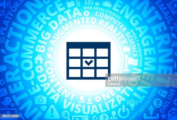 Check Boxes Icon on Internet Modern Technology Words Background
